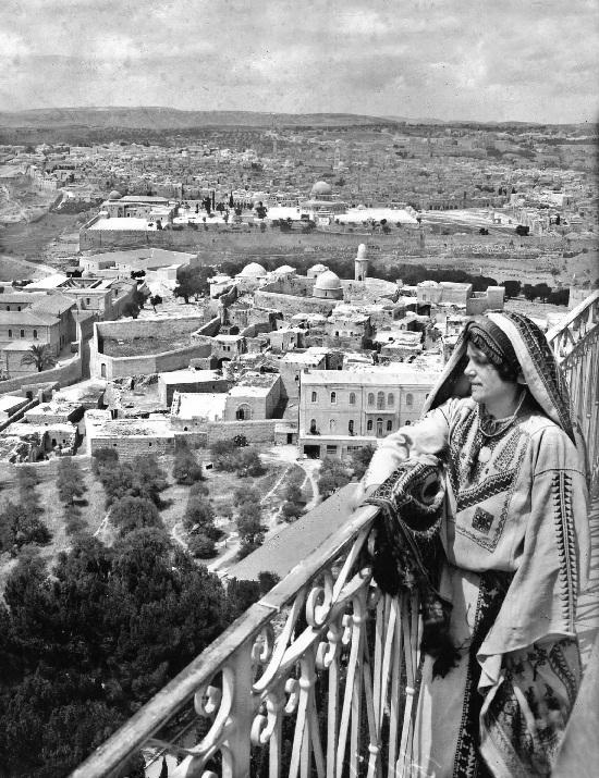 Jerusalén: vista desde el Monte de los Olivos, 1910.