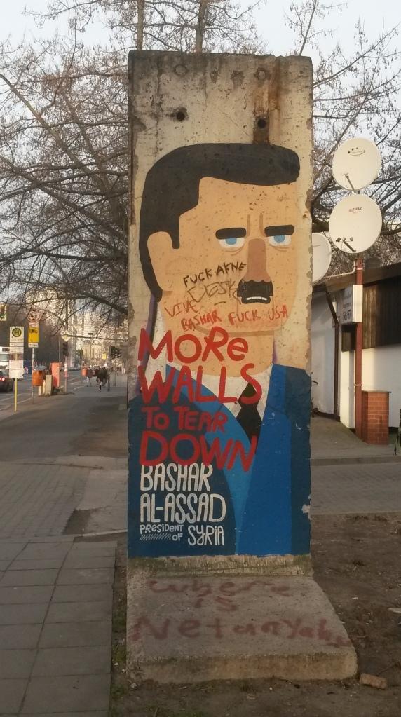 Grafiti de Bashar al-Asad en el Muro de Berllín