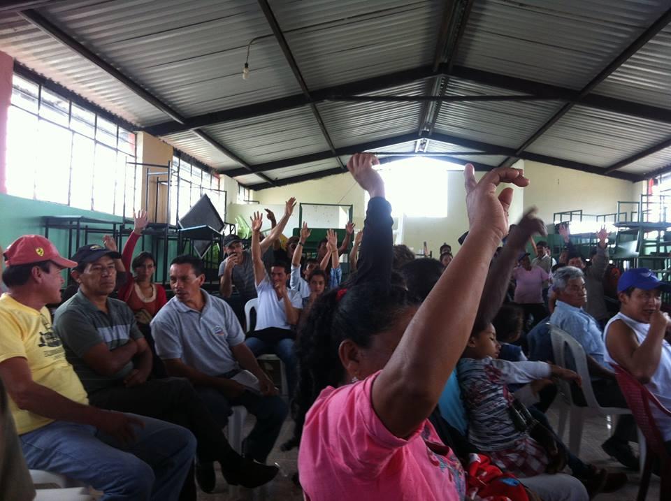 Consulta en la Comunidad de Pacto, 12 de abril de 2015